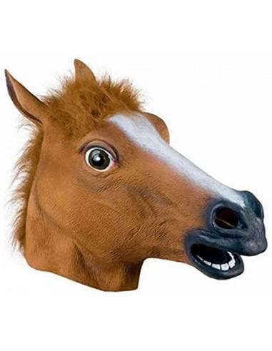 Mascara caballo marrón