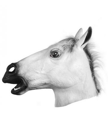 Mascara caballo blanca